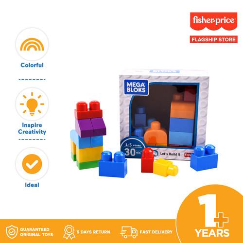 Foto Produk Mega Bloks 30 pieces - Mainan Balok Susun Edukasi Anak Balita dari Fisher Price Flagship