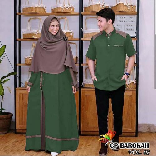 Foto Produk Couple Gamis Terbaru suami istri atasan wanita dress muslim baju pesta - motif c dari Mariyama store