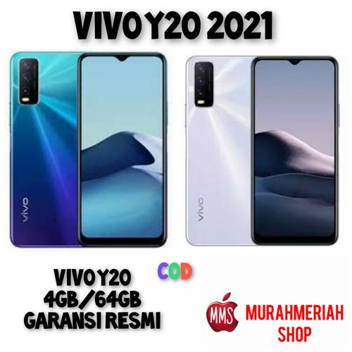 Foto Produk Vivo Y20 2021 (4GB/64GB) Garansi Resmi - Putih dari murahmeriah shop