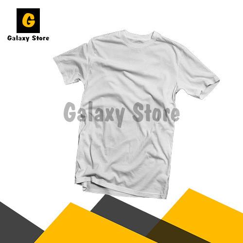 Foto Produk Kaos Polos Cotton Combed 24s Lengan Pendek Premium - Putih, S dari Galaxy Store GK