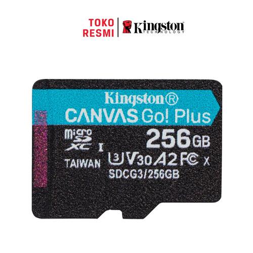 Foto Produk Kingston MicroSD Card Canvas Go! Plus Class 10 MicroSDXC 256GB dari Kingston Official Store