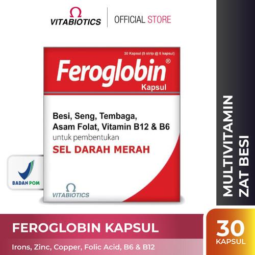 Foto Produk Vitabiotics Feroglobin Kapsul Suplemen Penambah Darah dari Vitabiotics Indonesia
