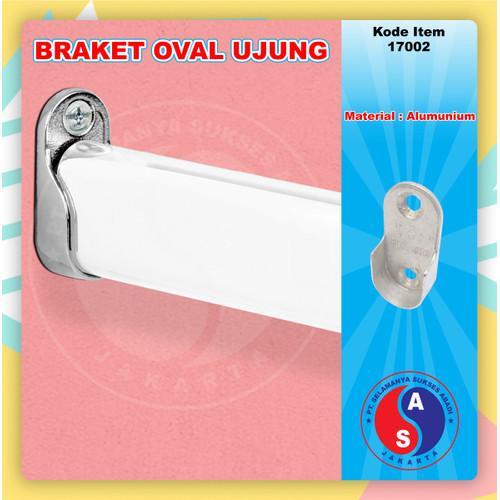 Foto Produk Bracket Pipa Oval Ujung / Gantungan Pipa Oval/Braket Pipa Oval / 17002 dari WINSTON SUKSES ABADI