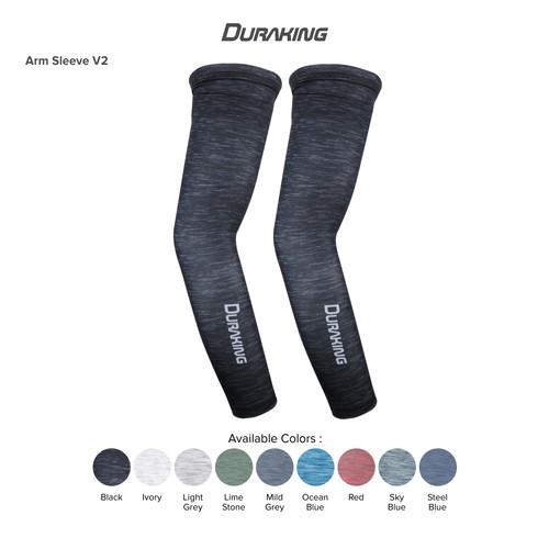 Foto Produk DK Arm Sleeve V2 Anti Virus Sports Heather All Size Black dari Duraking Outdoor&Sports
