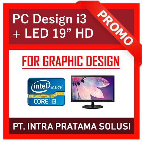 Foto Produk PC Office / Design - i3 2120 + RAM 8GB + SSD 120GB + Gt730 2GB + LED dari PT. Intra Pratama Solusi