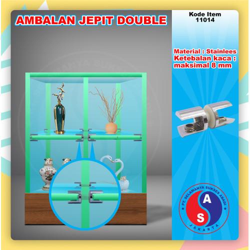 Foto Produk Ambalan Kaca ke Kaca Jepit Double / Ambalan Kaca 2 Arah / 11014 dari WINSTON SUKSES ABADI