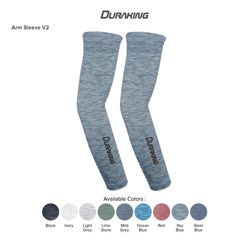 Foto Produk DK Arm Sleeve V2 Anti Virus Sports Heather All Size Sky Blue dari Duraking Outdoor&Sports