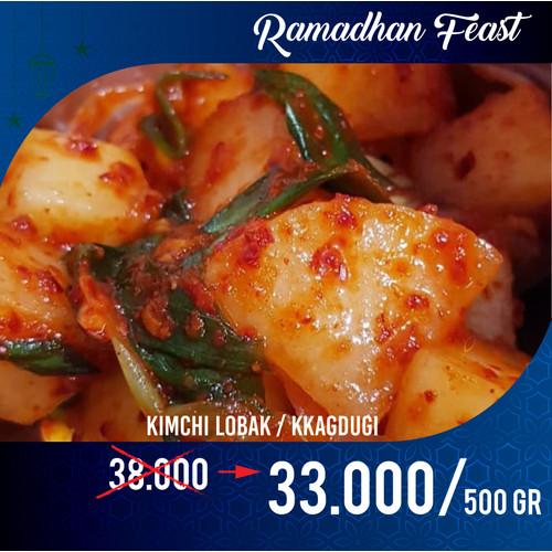 Foto Produk Kimchi Lobak Kkagdugi homemade dijamin nikmat 500 gr dari Wayang Emas 88