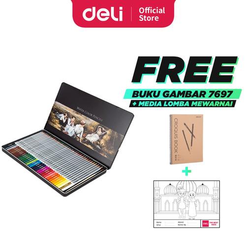 Foto Produk DELI - 6523 / Pensil Warna Ajaib Isi 48 / Alat Lukis Murah Berkualitas dari Deli Stationery