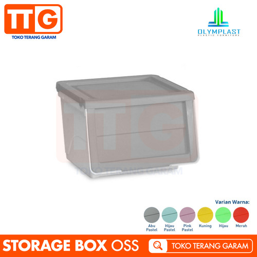 Foto Produk OLYMPLAST STORAGE SOLUTION OSS PLASTIC CONTAINER BOX KOTAK RAK PLASTIK - Abu-abu dari Toko Terang Garam