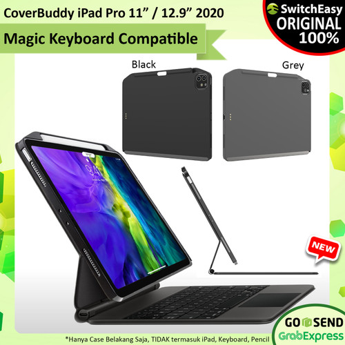 "Foto Produk Case iPad Pro 11"" - 12.9"" 2020 SwitchEasy CoverBuddy Pencil Holder - iPad Pro 11, Hitam dari GET-WID Official"