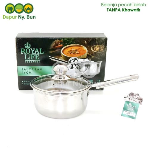Foto Produk Royal Life Sauce Pan 16cm / Panci Dengan Gagang Diameter 16cm dari Dapur Ny.Bun