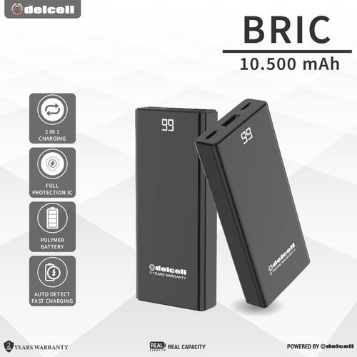 Foto Produk Delcell 10500mAh Powerbank BRIC Real Capacity Small dari DelCell