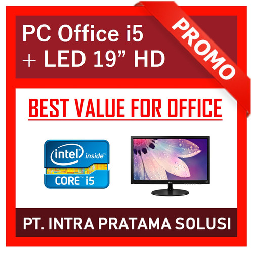 "Foto Produk PC Core i5 + 8GB RAM + HDD 1TB + LED 19"" dari PT. Intra Pratama Solusi"