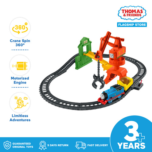 Foto Produk Thomas and Friends Cassia Crane and Cargo Set - Mainan Trek Kereta dari Thomas & Friends