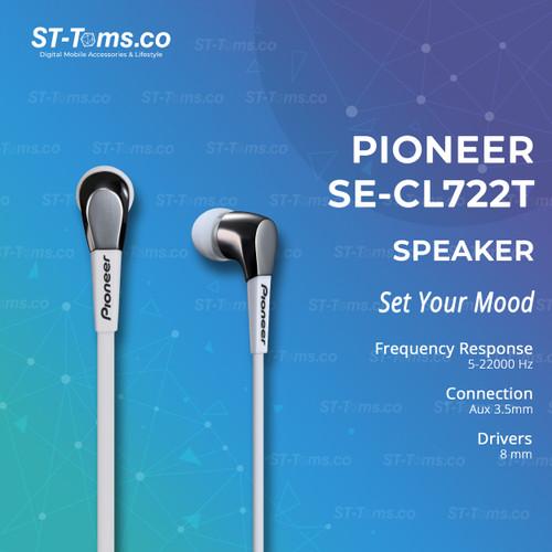 Foto Produk Pioneer SE-CL722T In-Ear Stereo Earphone - Putih dari ST-Toms.co