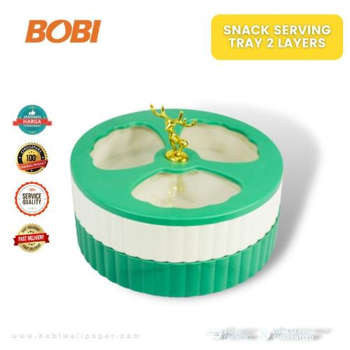 Foto Produk Food Storage Multifunction(Toples Snack 2 Susun) - Toples Rusa 3 Sekat dari AbadinternasionalTrading