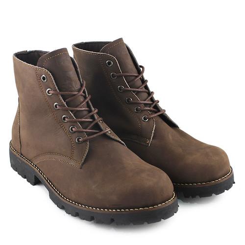 Foto Produk Sauqi Brodo Sepatu Pria Sepatu Boots Kulit Asli Murah Keren Original - Hitam, 39 dari Juragan Sepatu Bagus