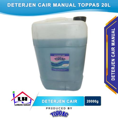 Foto Produk Deterjen Cair Manual 20L TOPPAS Mutu TOP Harga PAS Instant/Sameday dari Toko Sabun Hamzah