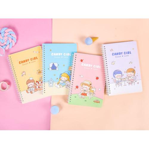 Foto Produk Candy Girl Diary Spiral Ruled Notebook A5 dari Pinkabulous