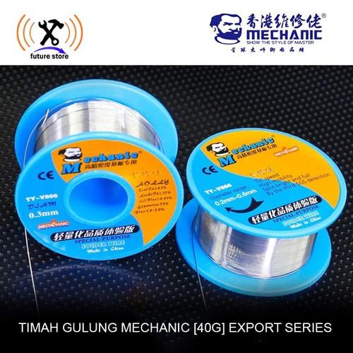 Foto Produk Timah Solder MECHANIC 0.3mm 0.4mm 0.6mm 0.8mm 40gr SPECIAL Flux Core dari RAJACELL BEKASI