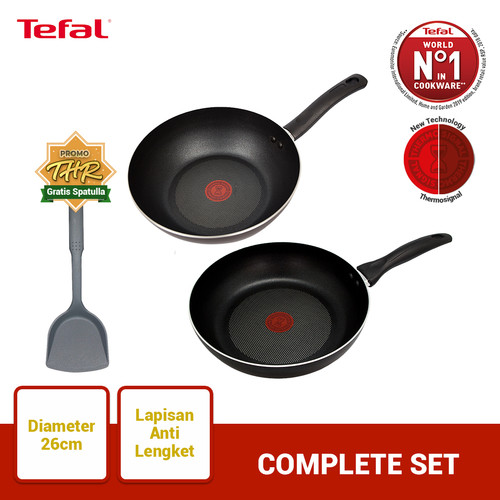 Foto Produk Tefal Wajan & Panci Complete Set 1 - Penggorengan dari TefalKrups Official