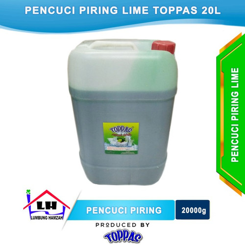 Foto Produk Pencuci Piring Lime 20L TOPPAS Mutu TOP Harga PAS Instant/Sameday dari Toko Sabun Hamzah