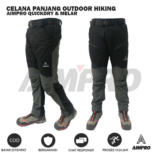 Foto Produk Celana Outdoor Hiking AIMPRO Panjang Bahan Melar Ringan Quickdry - Celana Outdoor, XL dari AIMPRO