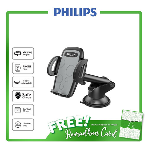 Foto Produk Philips DLK35002 Air Vent/Suction Car Mount with 360 degree rotation dari Philips Audio Official
