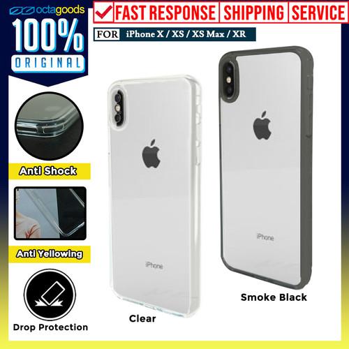 Foto Produk Case iPhone XS Max/ XS X/ XR OCTAGUARD Dual Full Clear Casing - XR, Smoke Black dari Unicase Store