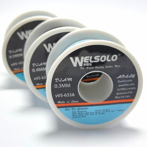 Foto Produk Timah Solder Welsolo 0.3mm 0.4mm 0.5mm 35gr Flux Core Tin Mechanic dari RAJACELL BEKASI