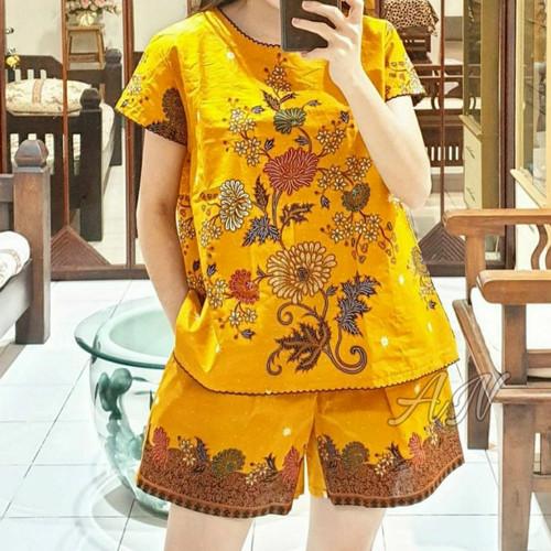 Foto Produk Unggul Batik Setelan Celana Pendek Atasan Wanita dari Batik Putra Roshi
