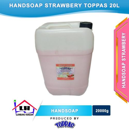 Foto Produk Hand Soap Strawbery 20L TOPPAS Mutu TOP Harga PAS Instant/Sameday dari Toko Sabun Hamzah