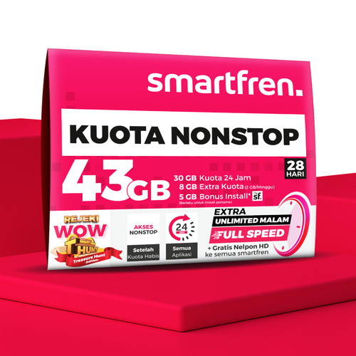 Foto Produk KARTU PERDANA NON STOP SMARTFREN 30 GB dari Smartfren Official Store