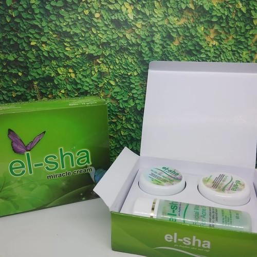Foto Produk ELSHA cream wajah PAKET NORMAL dari el-sha miracle cream