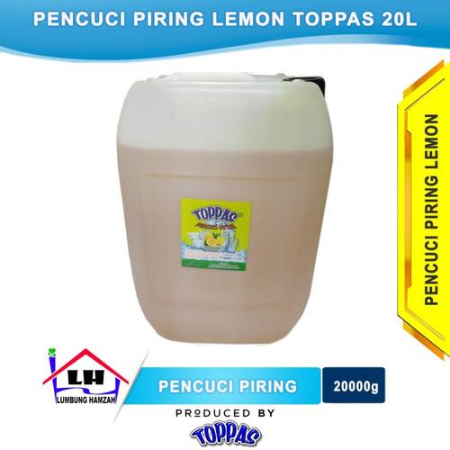 Foto Produk Pencuci Piring Lemon 20L TOPPAS Mutu TOP Harga PAS Instant/Sameday dari Toko Sabun Hamzah