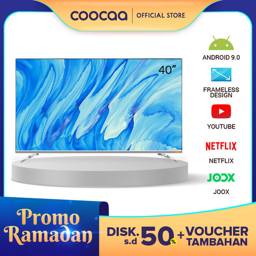 Foto Produk COOCAA 40 inch Android 9.0 Smart LED TV -Infinity View- FHD (40S6G) dari Coocaa Official Store