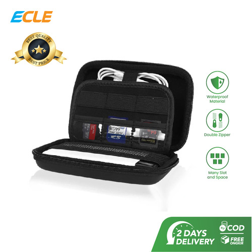 Foto Produk ECLE Hard Case Storage Bag Tas Aksesoris Gadget Organizer Waterproof dari ECLE Official Store