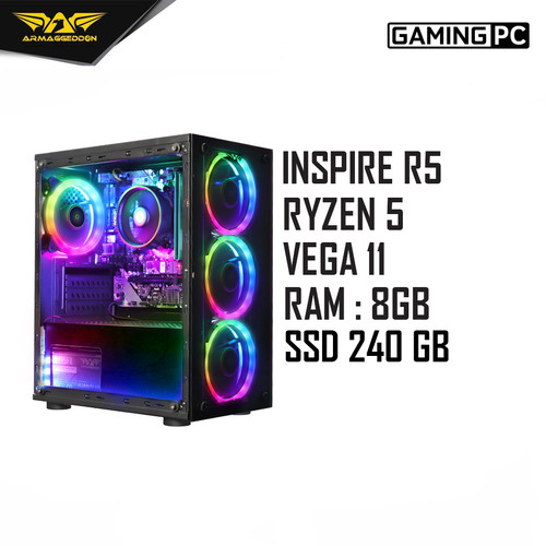 Foto Produk Armaggeddon PC Gaming INSPIRE-R3 AMD RYZEN 3 - ATHLON 3000G, SABER RAM 1x8GB dari Armaggeddon Official