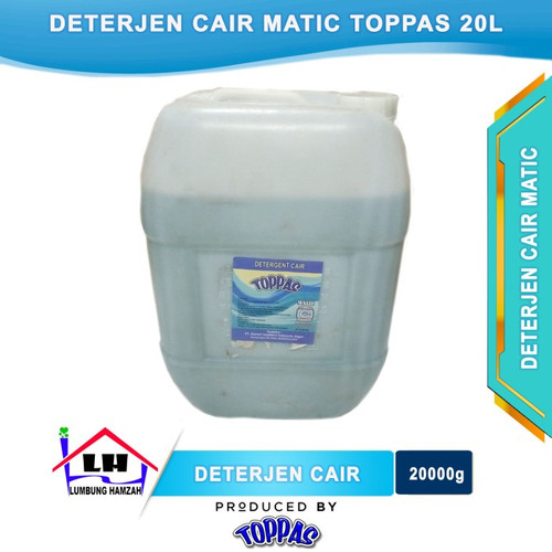 Foto Produk Deterjen Cair Matic 20L TOPPAS Mutu TOP Harga PAS Instant/Sameday dari Toko Sabun Hamzah