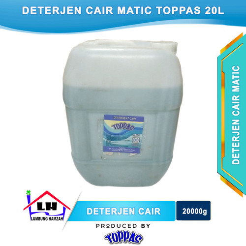 Foto Produk Deterjen Cair Matic 20L TOPPAS Mutu TOP Harga PAS dari Toko Sabun Hamzah