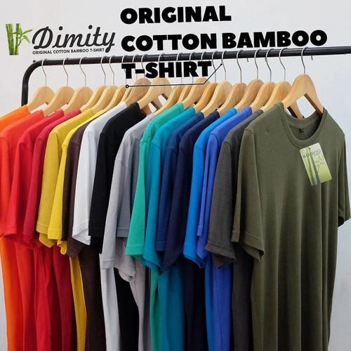Foto Produk Kaos Polos cotton bamboo SUPER ADEM katun bambu Cotton Bamboo T-SHIRT - Hitam, S dari DIMITY