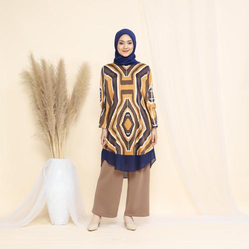 Foto Produk Nafashakila Vagia Atasan Tunik Muslim Kuning dan Biru Muda - Kuning dari nafashakila