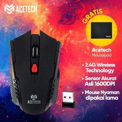 Foto Produk Acetech Mouse Wireless - Mouse Wireless Gaming Acetech A30 - Black dari TokoUsbcom