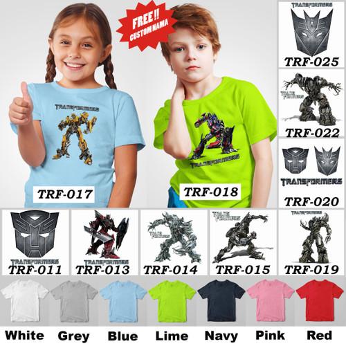 Foto Produk Kaos / Baju Anak Transformers - 13 Motif/Design - dari Little Orca
