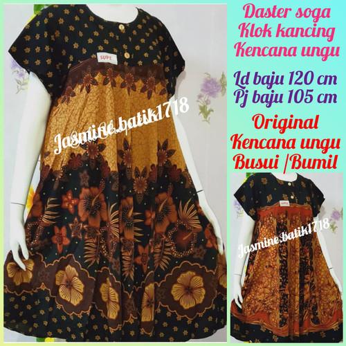 Foto Produk DASTER KLOK SOGA ALLSIZE KENCANA UNGU dari jasmine.batik1718