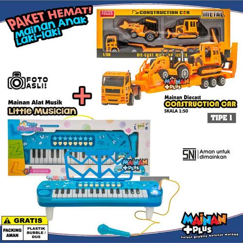 Foto Produk PAKET MAINAN ANAK LAKI LAKI PIANO DIE CAST MOBIL KONSTRUKSI (TIPE 1) dari MainanPlus