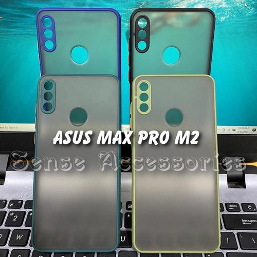Foto Produk Asus Zenfone Max Pro M2 ZB631KL Case Dove Matte Fuze Macaron MY CHOICE - Hitam dari sense accessories