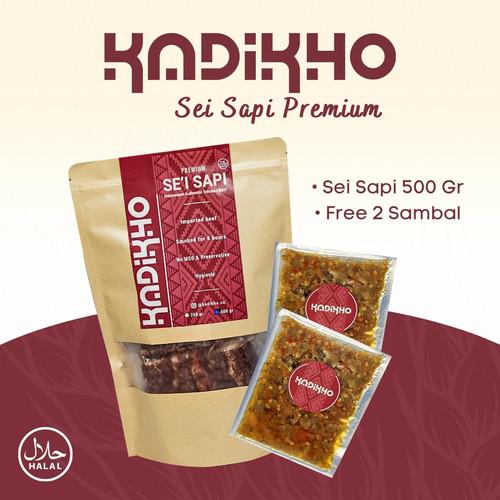 Foto Produk Kadikho Sei Sapi / Daging Asap Plus Sambal Vacuum Pack 600 Gram - Sambal Bawang dari kadikho foods