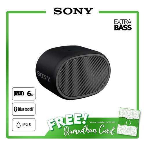 Foto Produk SONY SRS-XB01 Black Extra Bass Portable Bluetooth Speaker / SRS XB01 dari Sony Audio Official